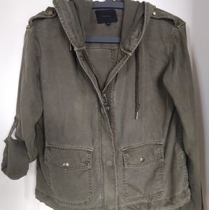 Talula Carbon Zip Hooded Jacket Military Inspired